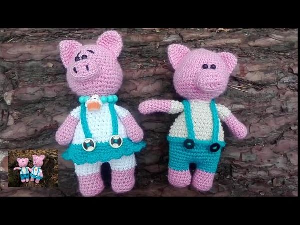 вязаные хрюшки.символ 2019 года.crocheted pigs.symbol of 2019.handmade