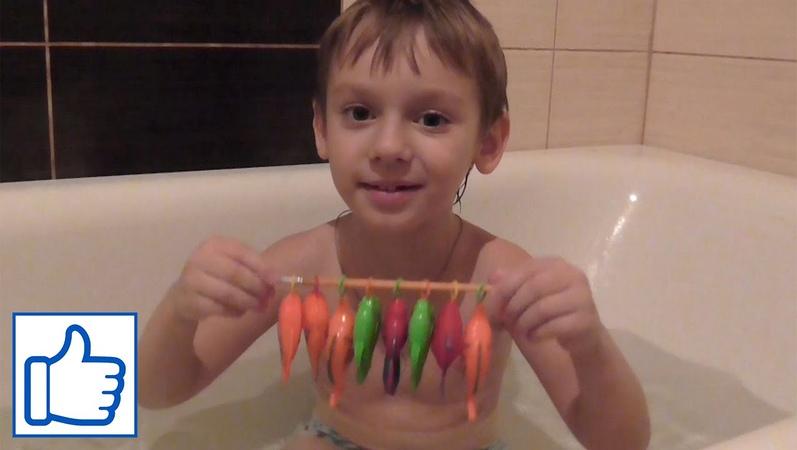Рыбалка в ванне перед сном Видео для детей Детский vlog Danya Boy