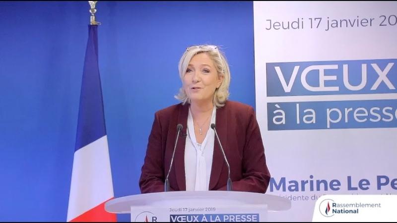 Voeux2019 de Marine Le Pen à la presse