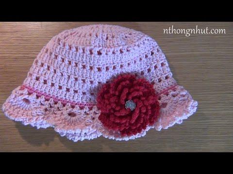 Cách móc nón len nữ   Crochet summer hat tutorial