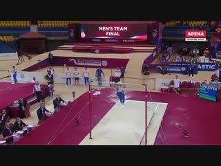 Артур Далалоян перекладина финал команды