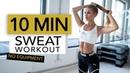 10 MIN CALORIE BURN | Full Body Sweat for Fat Burning No Equipment | Pamela Rf