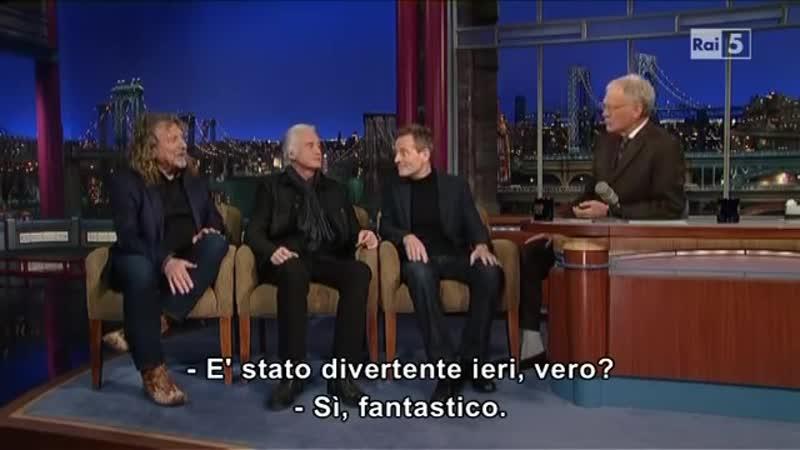 David Letterman Show Led Zeppelin 3 12 12 SUB ITA