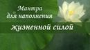 Мантра ЖИЗНЕННОЙ СИЛЫ✦ ИСЦЕЛЕНИЯ✦ ДУШЕВНОГО ПОКОЯ