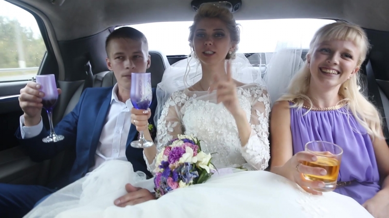 004 Свадьба Кристина и Роман. ( ЗАГС Трэш в лимузине прогулка )