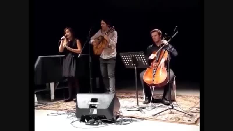 Katrina Paula Diringa Vladislav Glushchenko un Fred Martins. Brazilian Baltic Festival Riga 2018.09.20 Tempo Afora