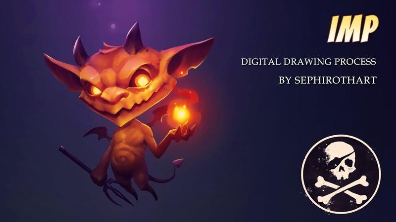 Imp ● Dungeon Knight Board Game Art ● Photoshop