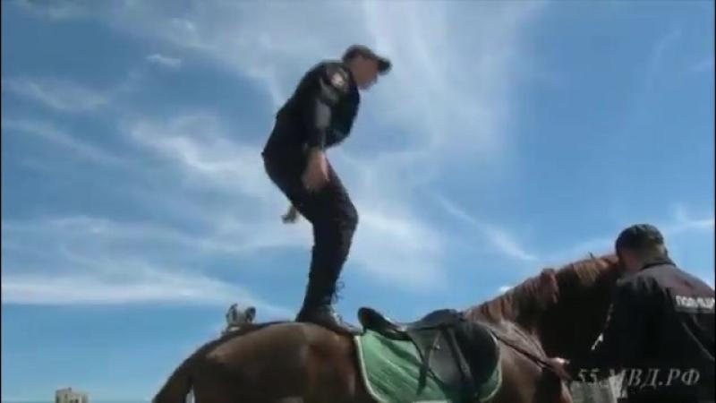 Показательные выступления с гарнизонного развода омской полиции - видео Омск полиция