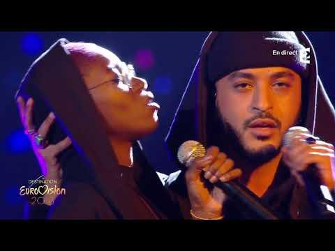 Slimane et Emmy Liyana : Viens on s 'aime émission Destination Eurovision 2018 (27/01/2018)