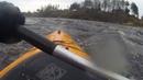 Река Мста пороги. Апрель 2017