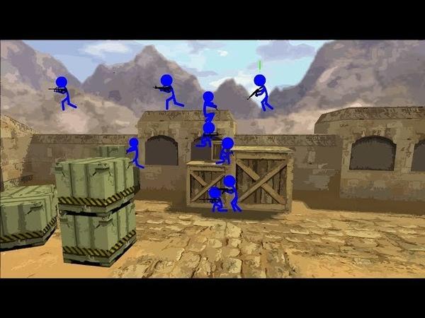 Flash Animation - Counter-Strike 1.6 - de_dust (Zombie Server)