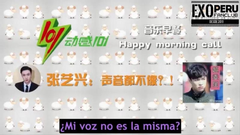 [SUB ESP] 17/11/01 - Llamada de broma de Lay en la radio @ Donggan 101 Happy Morning Call!