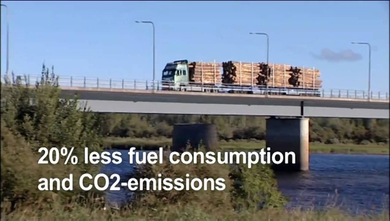 Volvo Trucks - Europe's longest haulage rig plays a central role in the One More Pile project