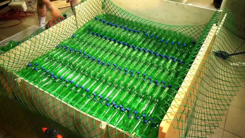 Плот из 3000 пэт бутылок - Бич лодка своими руками.
