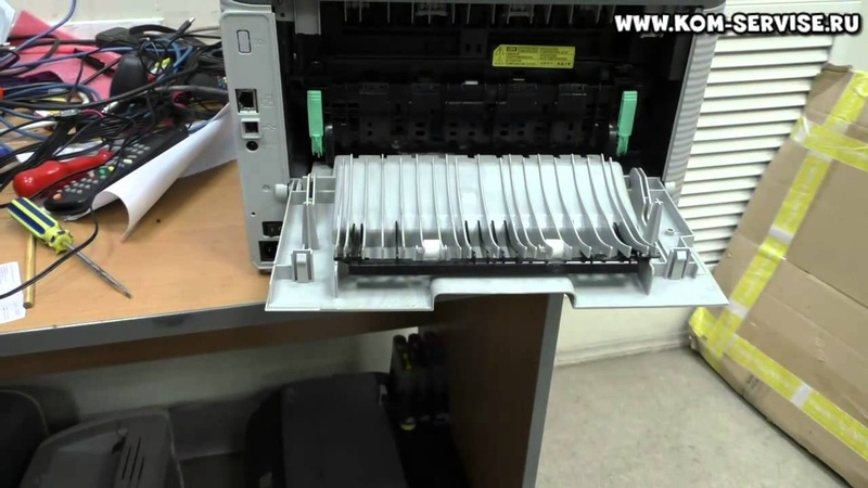 Как вытащить лист бумаги из принтера или МФУ Samsung при замятие.