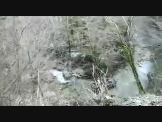 БТР упал в обрыв в Абхазии
