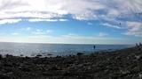 Отдых в Анапе вид на галечный пляж спокойствие безмятежность осень теплое море и медузы