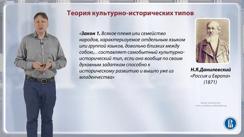 13.4 Теория культурно исторических типов - Петр Резвых