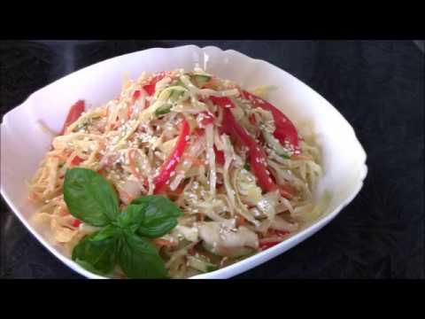 Салат из капусты с корейской заправкой Чим Чим - легко, просто, быстро и очень вкусно!