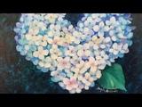 Easy Impressionist Hydrangea Heart Acrylic Painting LIVE Tutorial