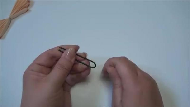 (ペーパーポンポン)簡単!かわいい蝶々の作り方 【DIY】(Paper Ponpon)Easy!Butterfly.mp4