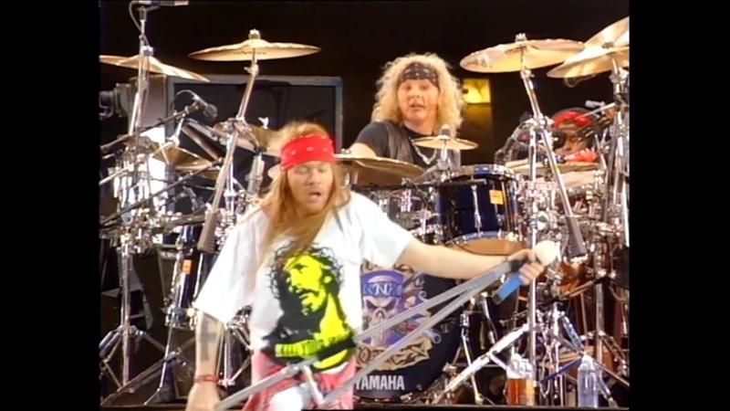 Guns N' Roses - Knockin' on Heaven's Door live @ Wembley [Freddie Mercury Tribute 1992] Blu Ray [HD]