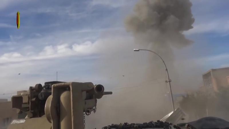 Абрамс уничтожает шахид мобиль ИГИЛ. M1A1 Abrams