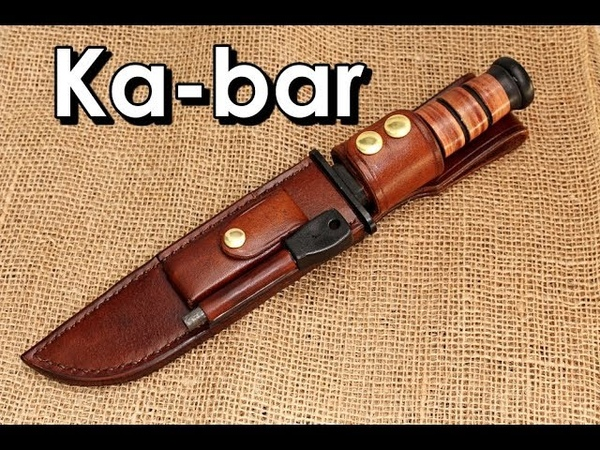 Making a Ka-bar leather sheath Dc3 pouch