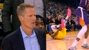 Kevin Durant INJRURY right ankle turn & Steve Kerr looks worried | Warriors vs Suns