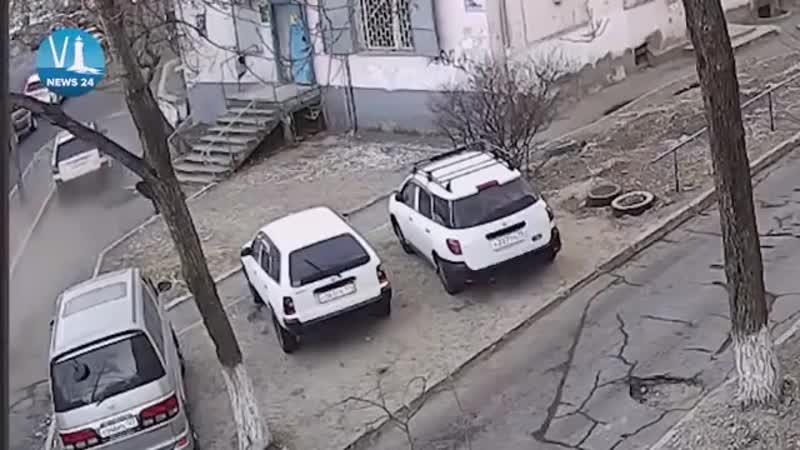 Момент ДТП во Владивостоке Убил маму с ребенком и сбежал