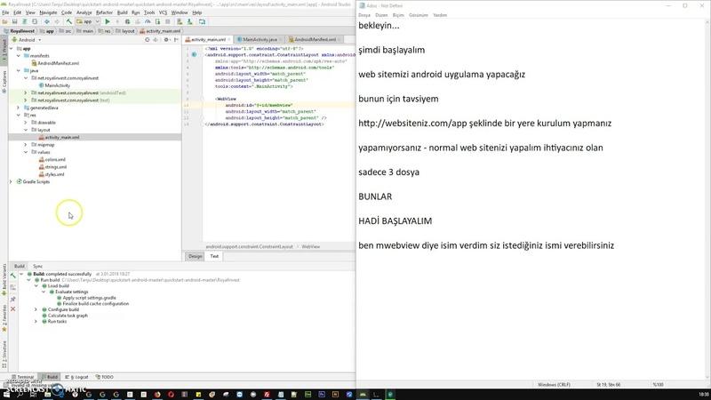 Android Uygulama Yapma Kodsuz yapılması gerekenler nasıl yapılır native uygulama 1