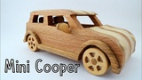 How To Make a Wooden Toy Mini Cooper  Wooden Miniature - Wooden Creations