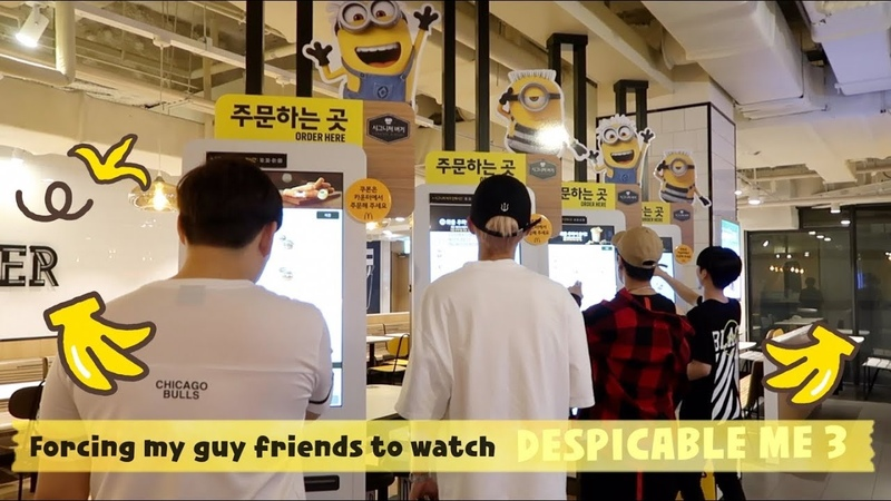 Vlog11 Forcing Kpop Idol Friends To Watch MINIONS :) lol (Despicable Me 3)