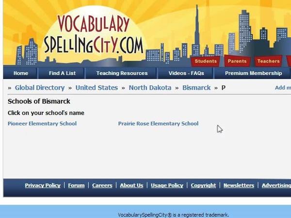 Finding Lists - VocabularySpellingCity