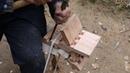 农村老爷爷纯手工打造复古鲁班工艺品,技艺高超,让人佩服