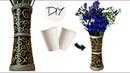 DIY flower vase from disposable plastic glass | Making flower pot at home