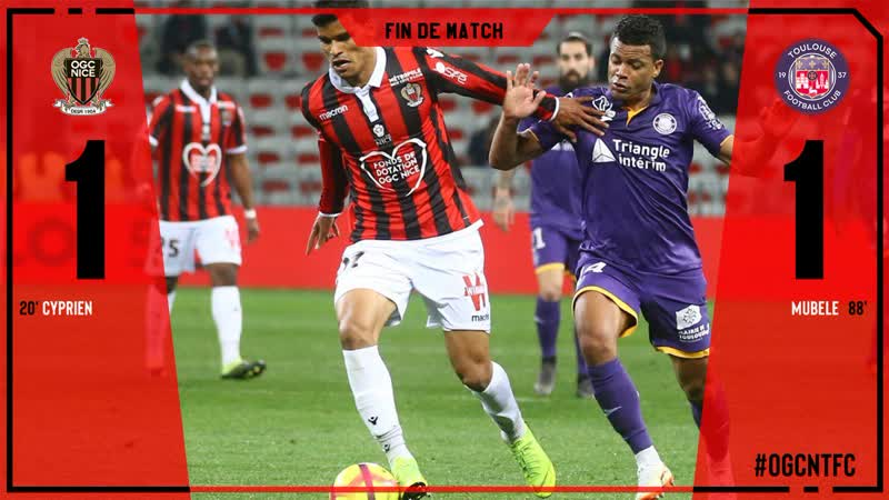 Nice vs Toulouse 1-1