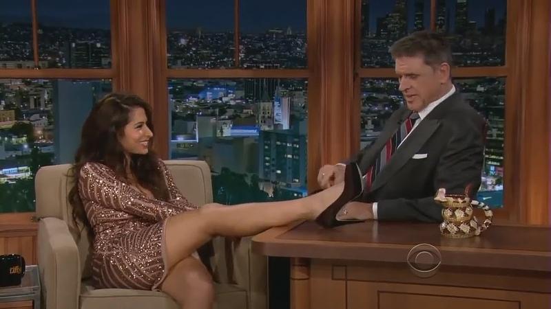 The Sexy Sarah Shahi Tipsy and Flirtatious on The Late Late Show with Craig Ferguson