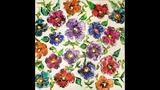 DA74 Acrylic Fluid Art Floral Scape w Blown Flowers &amp Owatrol with Sandra Lett 061818