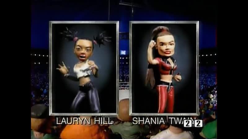 Lauryn Hill vs. Shania Twain (2-й сезон) (August 5, 1999) - Celebrity Deathmatch
