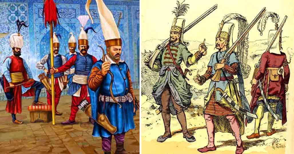 Янычары при султанском троне