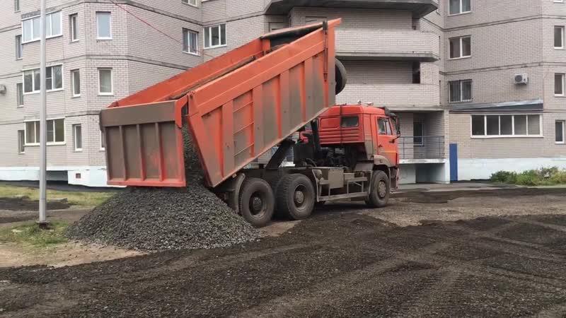 ИжПоставка отсыпка парковки на Буммашевской 41
