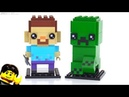 LEGO BrickHeadz Minecraft Steve Creeper review! 41612