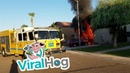Garage Fire Quickly Turns into Giant House Fire || ViralHog