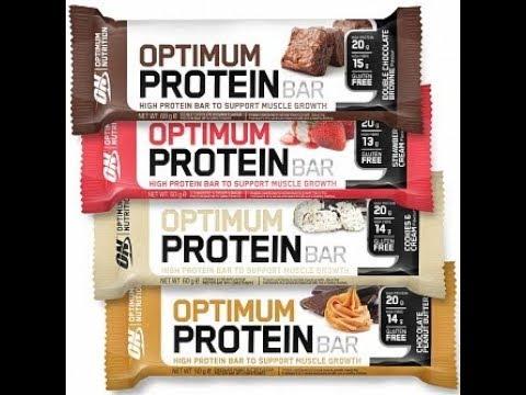 Обзор батончиков от Optimum Nutrition - Optimum protein bar