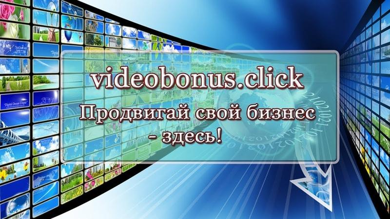 Videobonus. click - продвигай свой бизнес и без вложений зарабатывай