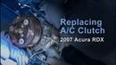Replacing A/C compressor clutch pulley - '07 Acura RDX