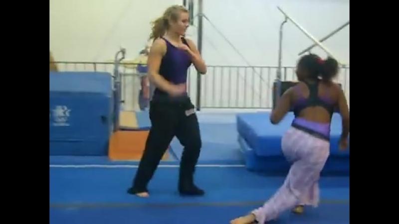 Wrestling at the gym hahaha.mp4