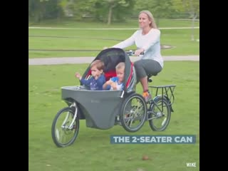 This stroller that doubles as a bicycle is perfect for parents who love to exercise