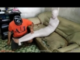 Mummified Girl on a Couch